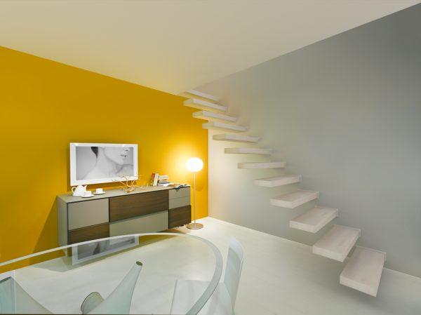 Fontanot lépcső - Wall - lebegő lépcső