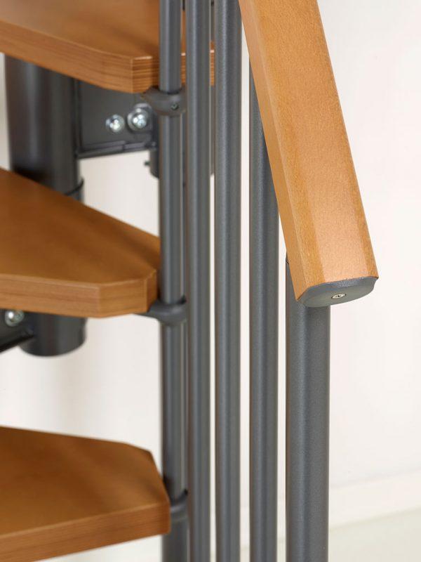 Nice4 Grigio Ghisa - helytakarékos lépcső sötétszürke korkát