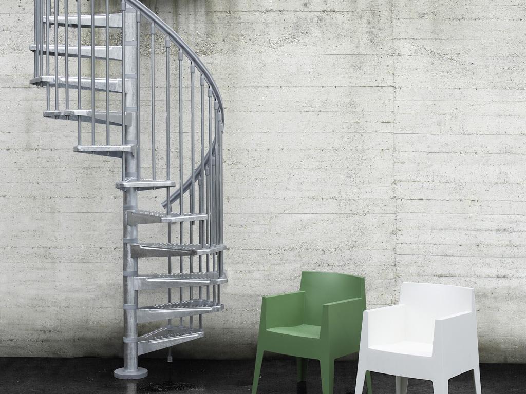 Pixima - Steel Zink - kültéri lépcső